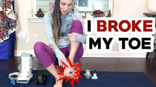 How to Manage a Broken Toe OUCH! Here's How I Deal with My Broke Toe