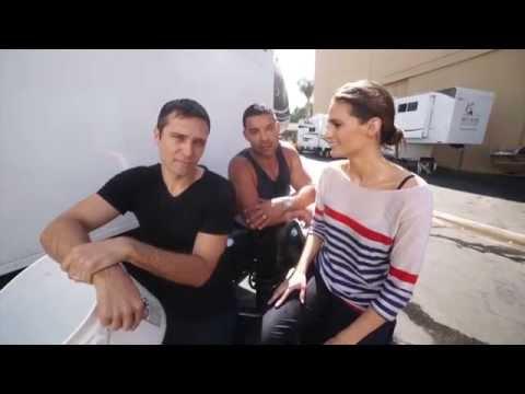 Jon, Stana & Seamus kiss My Als video