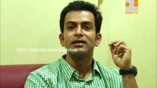"actor prithviraj praising nivin paulys performance in the film ""thattathin marayathu"" and also praising vineeth sreenivasan and laljose for their directorial..."