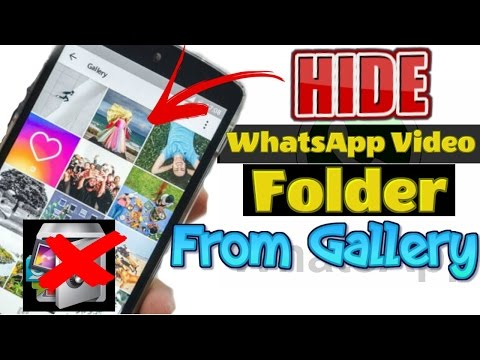 How to Hide WhatsApp Videos and Images from Mobile Gallery - Nomedia Android WhatsApp Trick - HINDI