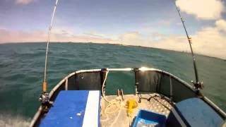 Zego sports boat in moderate seas = awesome fun!!