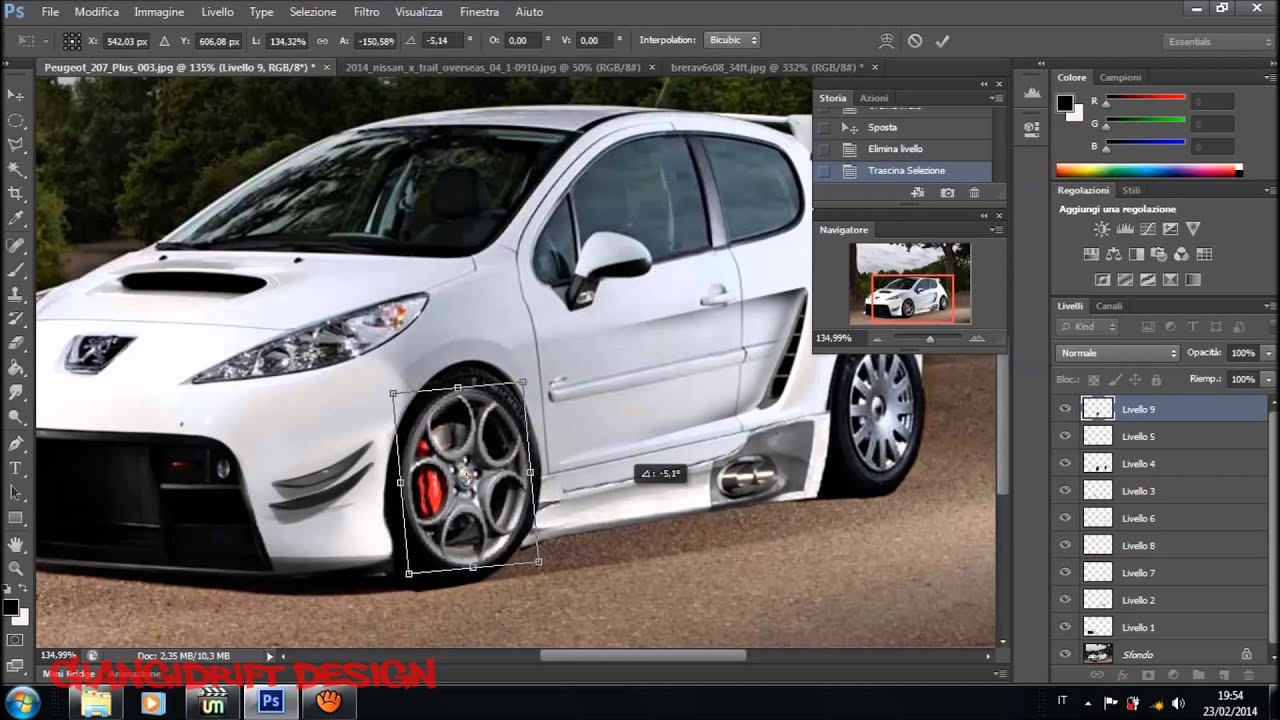 peugeot 207 gti virtual tuning photoshop youtube. Black Bedroom Furniture Sets. Home Design Ideas