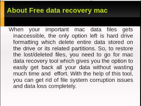 A complete tutorial on Free Data Recovery mac