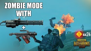 [HINDI] PUBG Mobile -- ZOMBIE MODE GAMEPLAY || NEW WEAPONS FLAMETHROWER AND M134