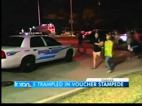 A handful of people were trampled in Dallas, including a pregnant woman, ...