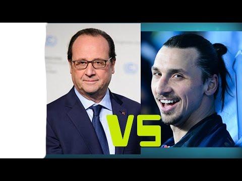 François Hollande écorche le nom de Zlatan Ibrahimovic ! MDR !    ; )   !