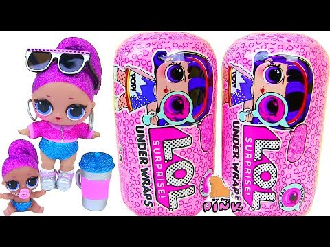 #ЛОЛ КАПСУЛЫ! LOL SURPRISE UNDER WRAPS! Baby Doll Bling Queen! Распаковка Игрушек с Май Тойс Пинк
