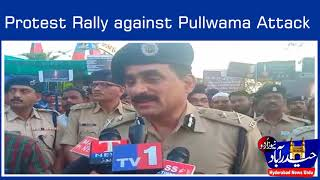 Pulwama Terror Attack Condemn: Police hold Rally in Hyderabad