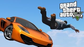 GTA 5 - SUPER PRECISION SKYDIVING STUNT !? +Ferrari 599 GTO