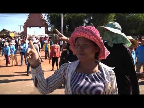 Police and workers Clashes in Kampong Speu