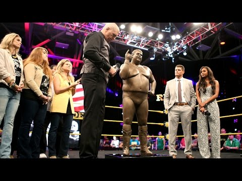 "The Rhodes' Family unveils the new statue of ""The American Dream"" Dusty Rhodes"