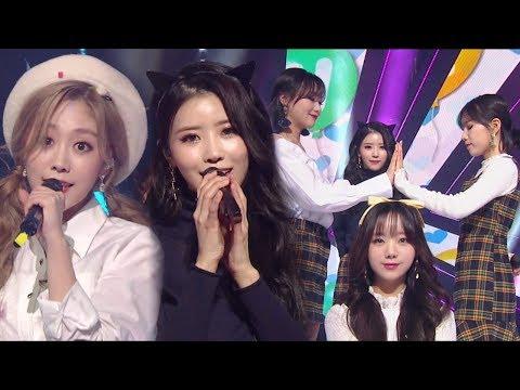 《ADORABLE》 Lovelyz(러블리즈) - Triangle(삼각형) @인기가요 Inkigayo 20180107