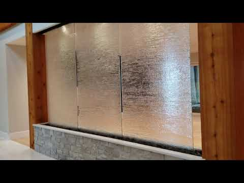 Custom Waterfall Vancouver Canada - Kiln Formed Glass Wavy - waterfallnow com