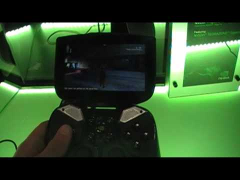 Close-up look at NVIDIA's Project Shield and graphics quality from GRID gaming server at GDC 2013