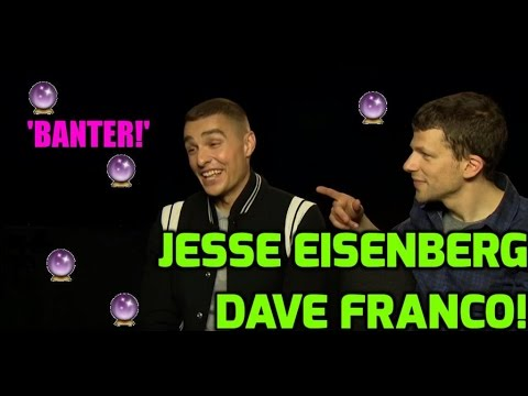 Jesse Eisenberg & Dave Franco talk banter, rude songs and play our joke card game!