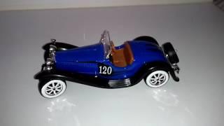 Bugatti ''type 55'' 1932 azul escala 1/12
