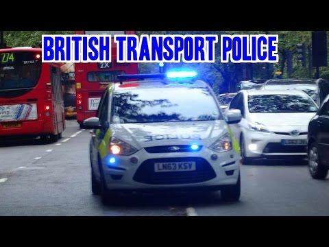 Police siren & lights - British Transport Police car
