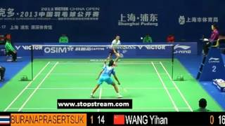 QF - WS - Porntip Buranaprasertsuk vs Wang Yihan - 2013 China Open