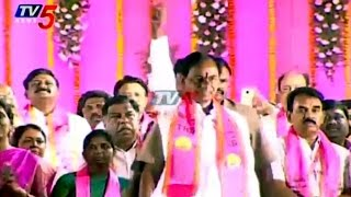 CM KCR Rocking Entry at TRS Party Public Meeting in Warangal