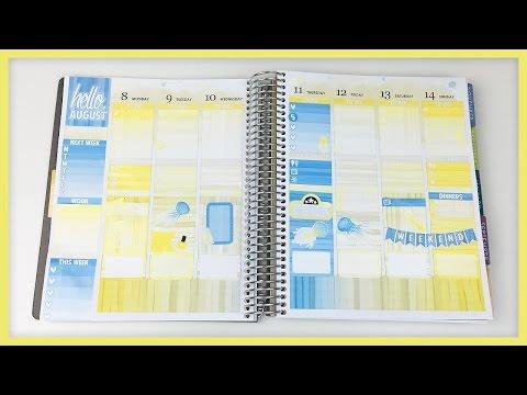 Plan With Me // Hello August! (Erin Condren - Vertical)