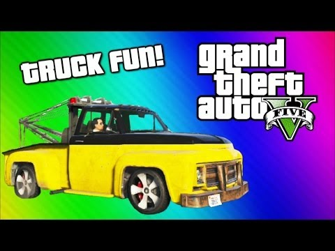 GTA 5 Online Funny Moments Gameplay Tow Truck Under Map Glitch Terroriser Arnold Schwarzenegger