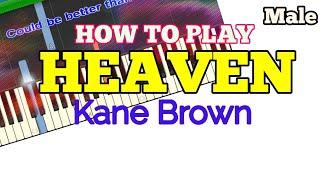 Download Lagu [How to, Male] Heaven - Kane Brown (Easy Piano Tutorial + Lyrics/Lyric Video) Gratis STAFABAND