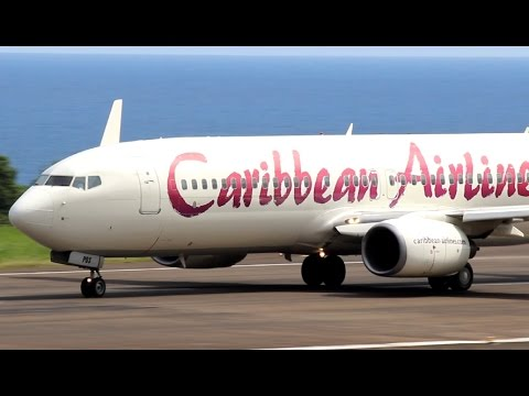 Caribbean Airlines 737-800 Charter Flight to St Kitts (HD 1080p)