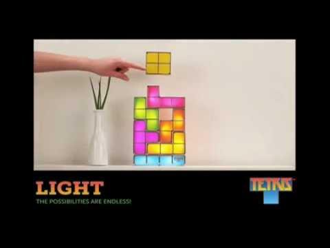 Lampe Tetris: Ambiance déco geek et originale