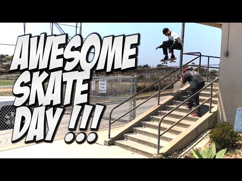 AMAZING SUMMER SKATE DAY !!! - A DAY WITH NKA -