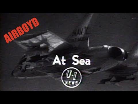F7U Cutlass AIM-7 Sparrow Missile Testing (1956)