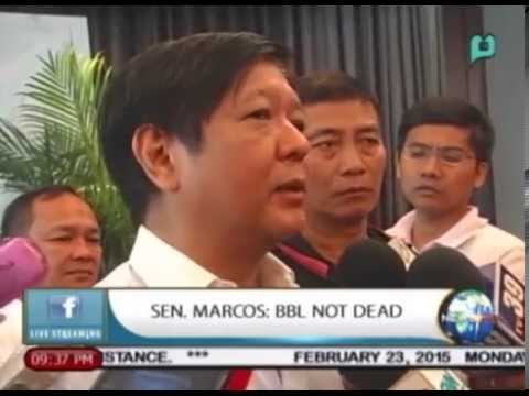 Sen. Bongbong Marcos: Bangsamoro Basic Law not yet dead || Feb. 23, 2015