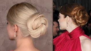 Emma Stone hair tutorial: timeless red carpet updo