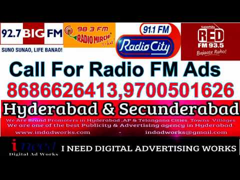 FM Radio Ad Agency Hyderabad,Secunderabad, Andhra pradesh, Telangana Cities