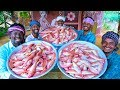FISH FRY | 40KG Red Snapper Fish Recipe | Fish Gravy Cooking in Village | Traditional Cooking thumbnail