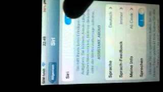 Siri on iPhone 4 or iPod 4 iOS 5.0 - 5.0.1 with Cydia  (German)