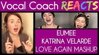 Vocal Coach Reacts to Katrina Velarde and Eumee - I'll Never Love You Again/Without You