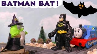 Funny Wizard Funling changes Batman in to a Bat with Thomas and Friends Trains helping TT4U