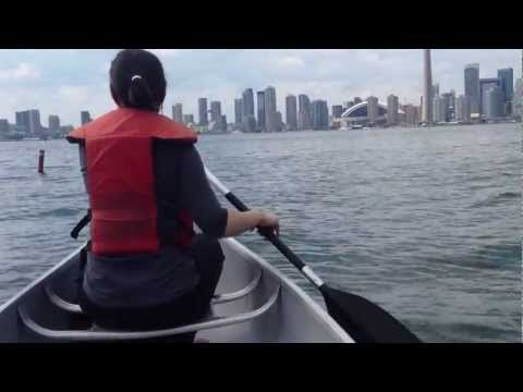 Canoeing, Central Island in Toronto