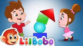 Shapes Rhymes - Toddlers Learning   Little BoBo Nursery and Kids Songs   FlickBox