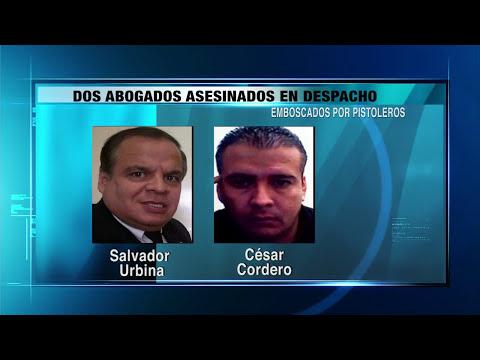 Dos abogados asesinados en despacho