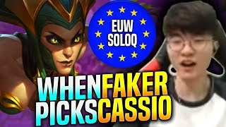 FAKER Chilling WITH CASSIOPEIA! - SKT T1 Faker Plays Cassiopeia vs Zed Mid! | FAKER EUW Bootcamp