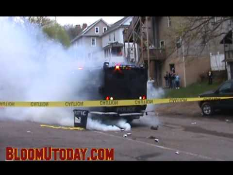 Police BearCat Tries to Clear Fetterman Ave with Tear Gas at Block Party