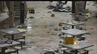 Video Shows Prisoners Rioting, Trashing Unit
