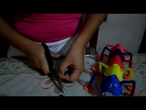 Elaboración de un gusano con material reciclable