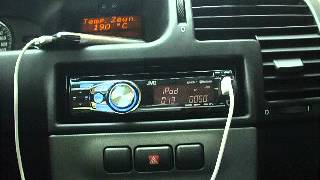 Opel Zafira Elegance stock audio with iPhone & JVC KD-R711 part.1