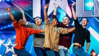 download lagu Golden Buzzer Act Boyband Are Back-flipping Amazing  Audition gratis