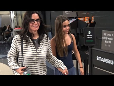 Courteney Cox And Daughter Coco At LAX