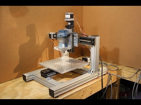 Homemade DIY CNC - KR33 Mini CNC System - 1st Test Cut - Neo7CNC.com