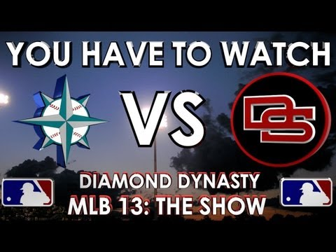 YOU HAVE TO WATCH!!! - Seattle Mariners vs.The Dunbar Snackbars: MLB 13 The Show - Diamond Dynasty