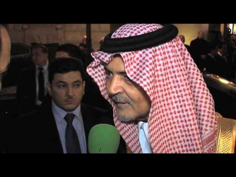 Opiniones del príncipe Saud Al Faisal cerca de nuestro canal